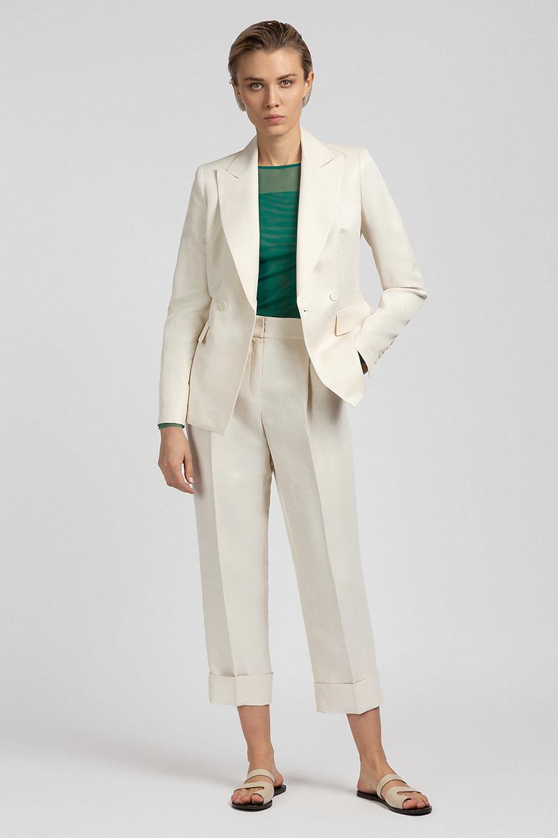 Укороченные брюки со стрелками VASSA&Co фото