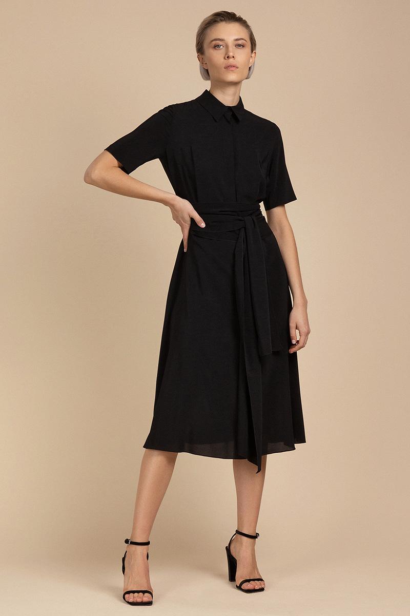Платье-миди из струящейся вискозы VASSA&Co фото