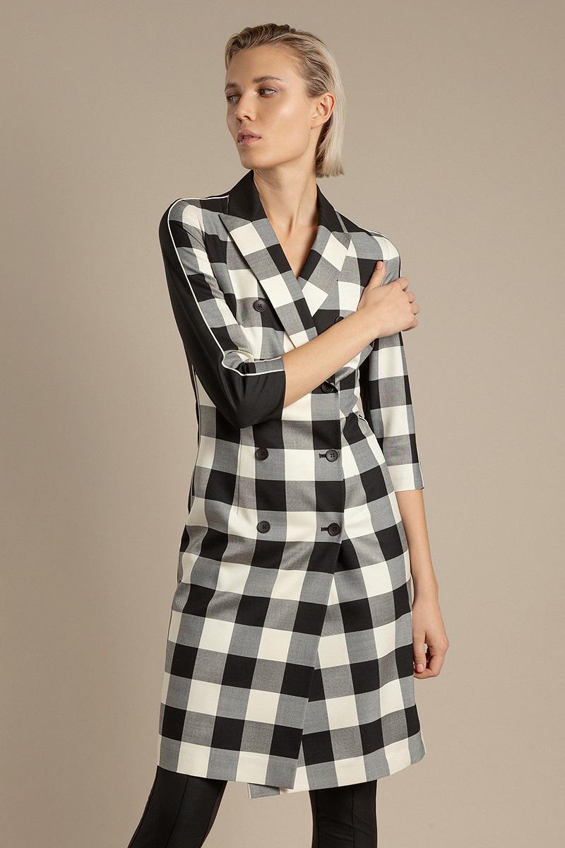 Двубортное платье-жакет с укороченными рукавами VASSA&Co фото