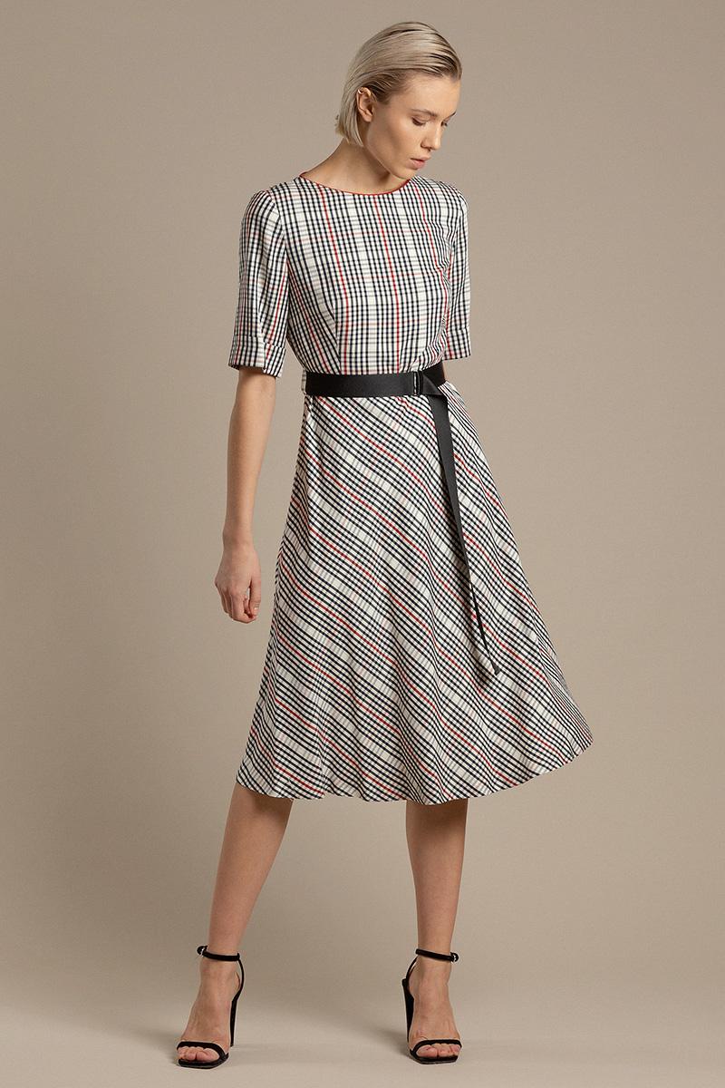 Платье из вискозы в клетку VASSA&Co фото