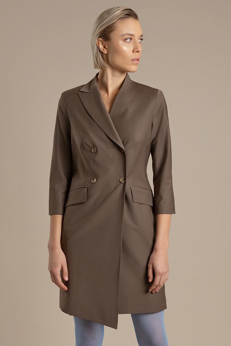 Платье-жакет с двубортной застежкой и укороченными рукавами VASSA&Co фото