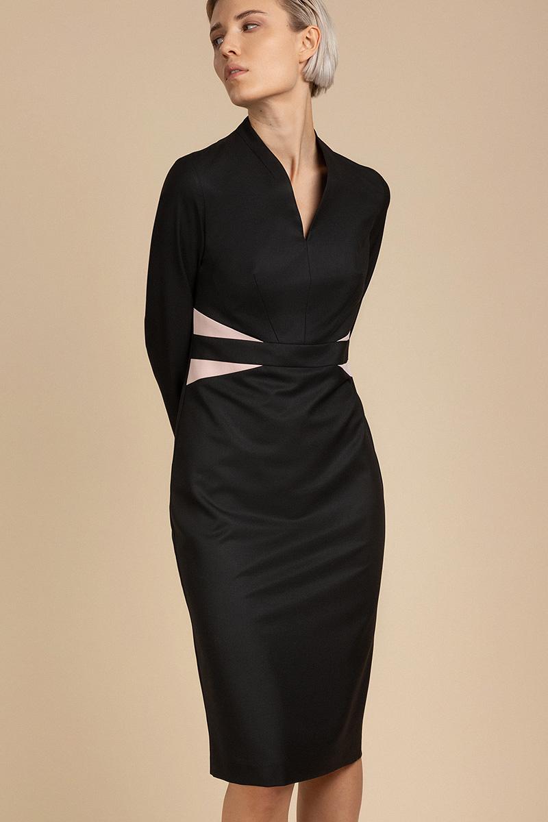 Платье-футляр с акцентом на талии VASSA&Co
