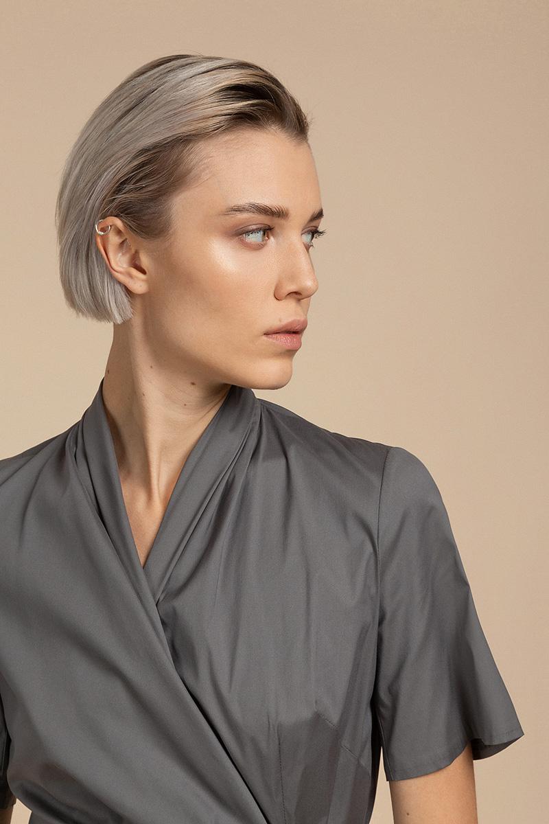 Лаконичное хлопковое платье с запахом VASSA&Co фото