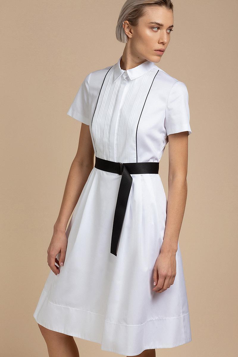 Летнее платье с декоративной манишкой VASSA&Co
