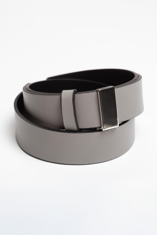 Кожаный ремень с металлической пряжкой VASSA&Co