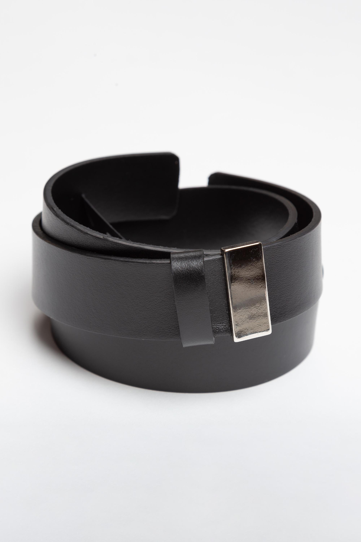 Кожаный ремень с металлической пряжкой VASSA&Co sonex vassa 1203 l