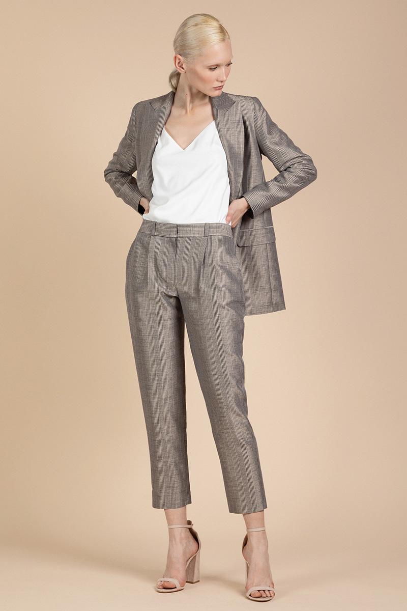 Укороченные брюки классического кроя VASSA&Co фото