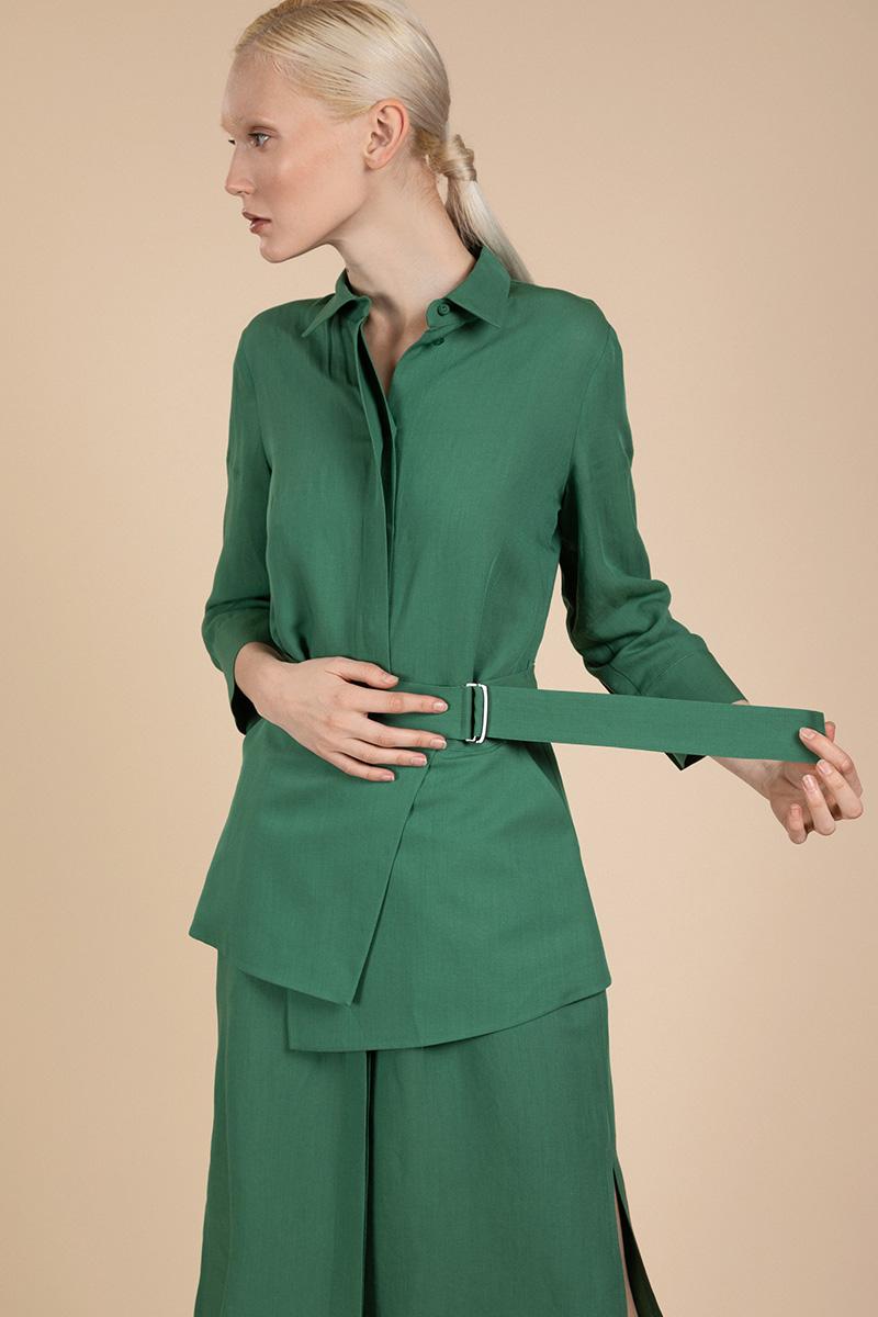 Платье-рубашка с поясом VASSA&Co фото