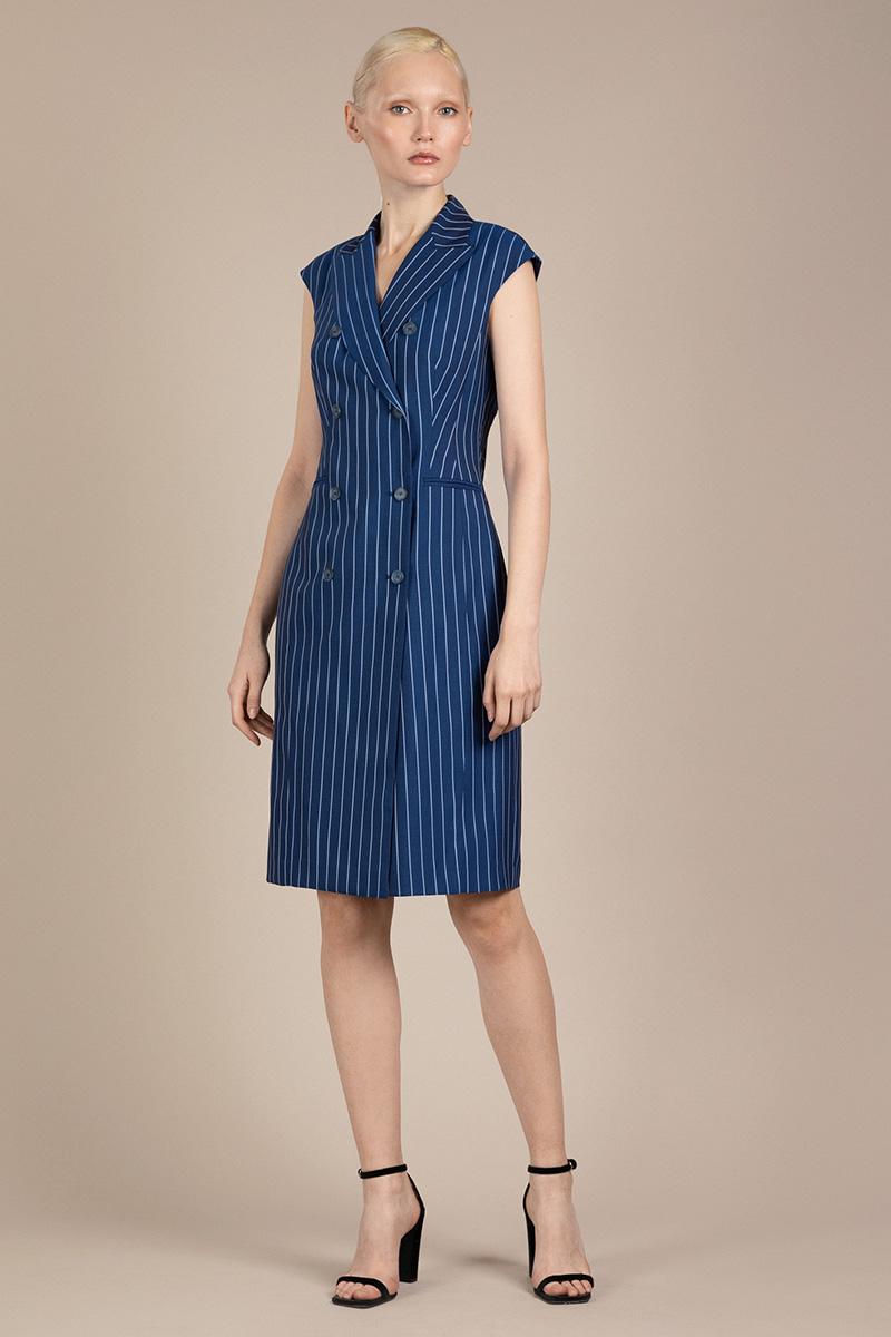 Двубортное платье в полоску VASSA&Co фото