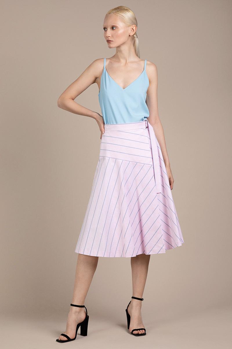 Расклешенная юбка из хлопка VASSA&Co фото