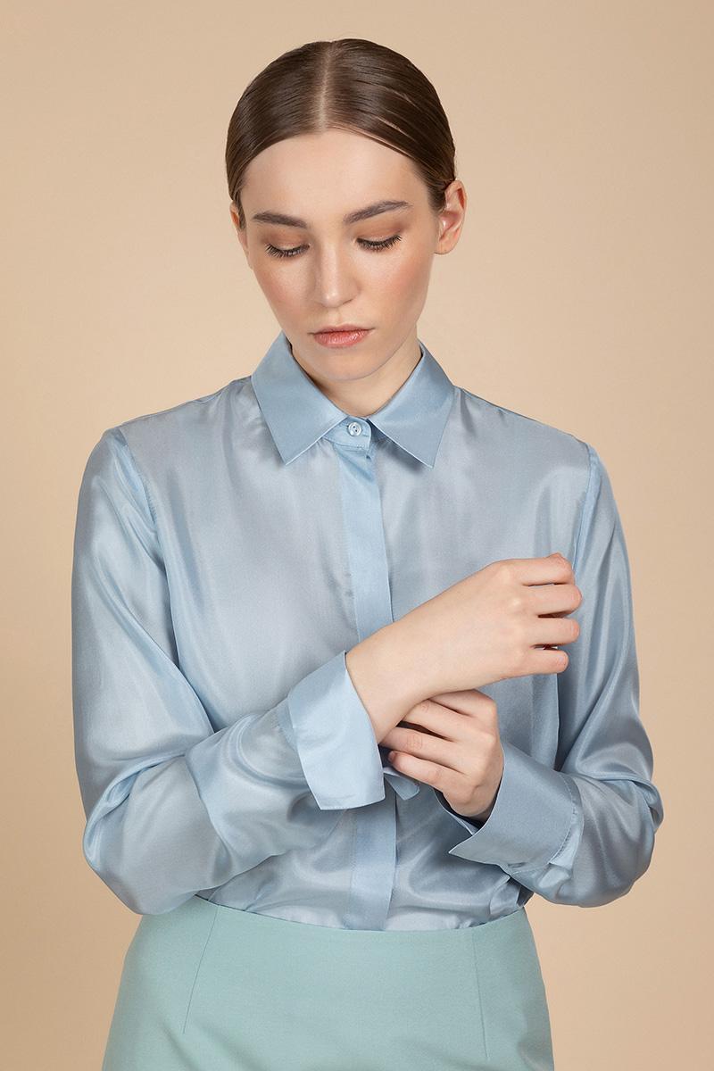 Классическая блузка из шелка VASSA&Co фото