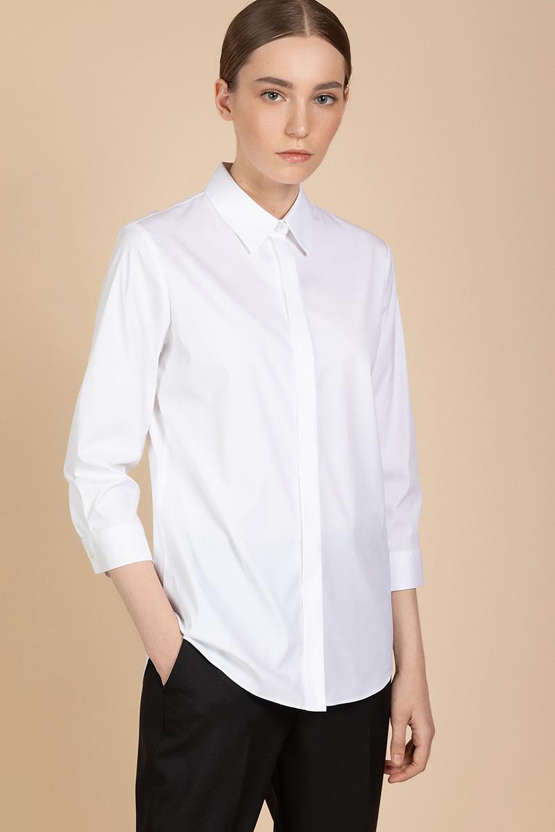 Свободная блузка из хлопковой ткани VASSA&Co фото