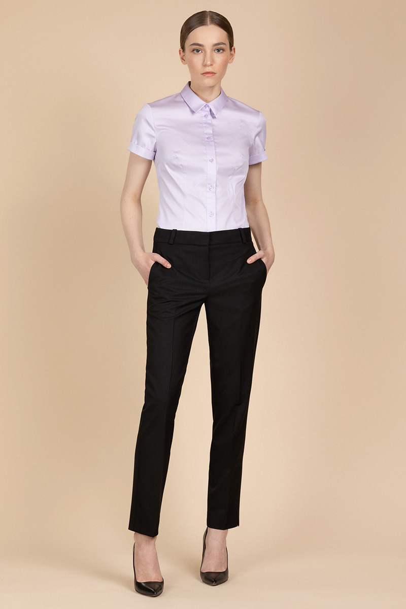 Зауженные базовые брюки VASSA&Co фото
