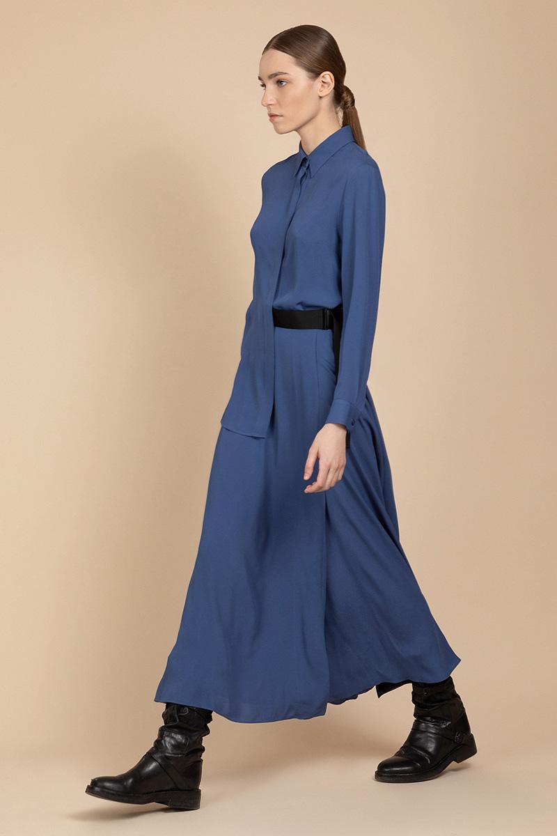 Платье рубашечного кроя с контрастным поясом VASSA&Co фото