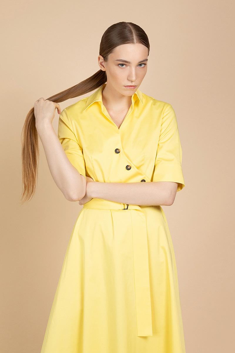 Яркое платье с коротким рукавом VASSA&Co фото