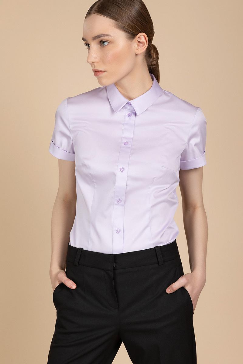 Хлопковая блузка с короткими рукавами VASSA&Co фото