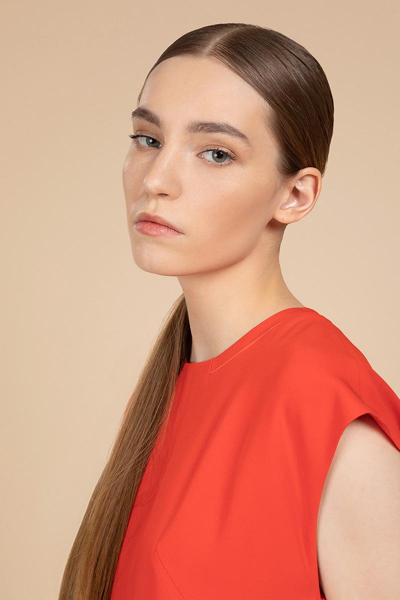 Свободное платье с короткими рукавами VASSA&Co фото