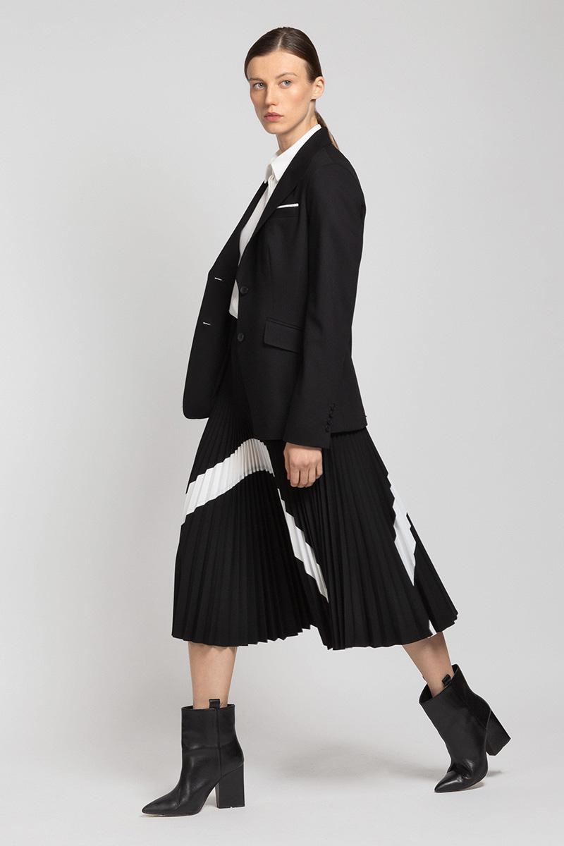 Плиссированная юбка с контрастной отделкой VASSA&Co фото