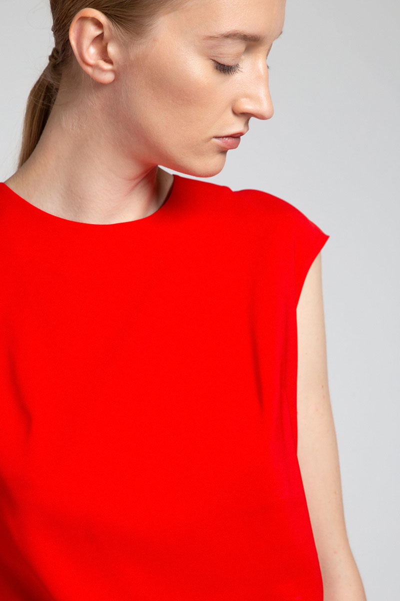 Базовая блузка из вискозы VASSA&Co фото