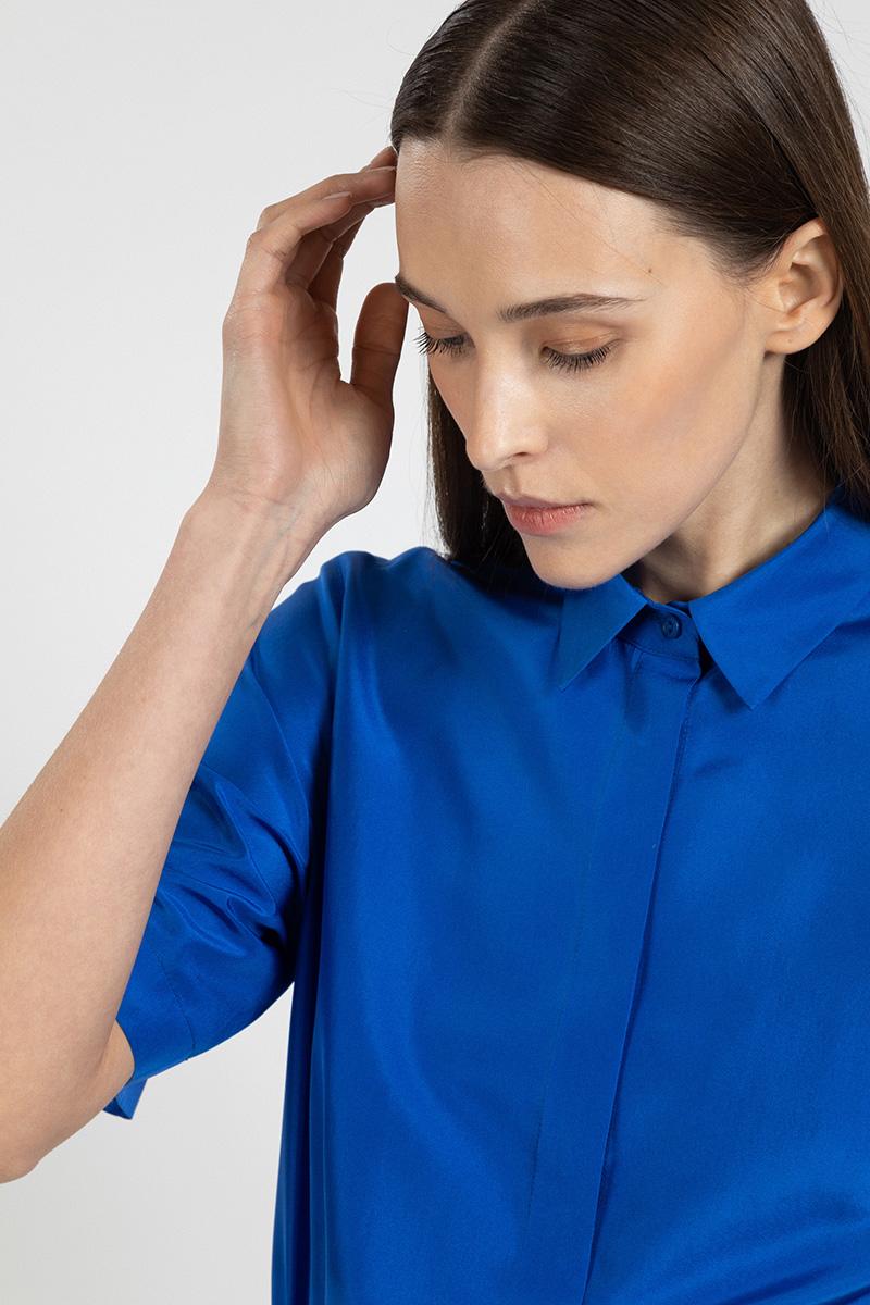 Шелковая блузка с коротким рукавом VASSA&Co