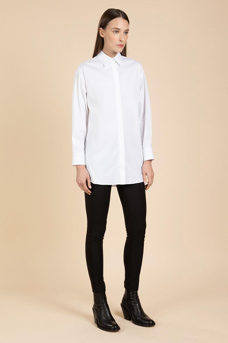 Удлиненная хлопковая блузка VASSA&Co фото