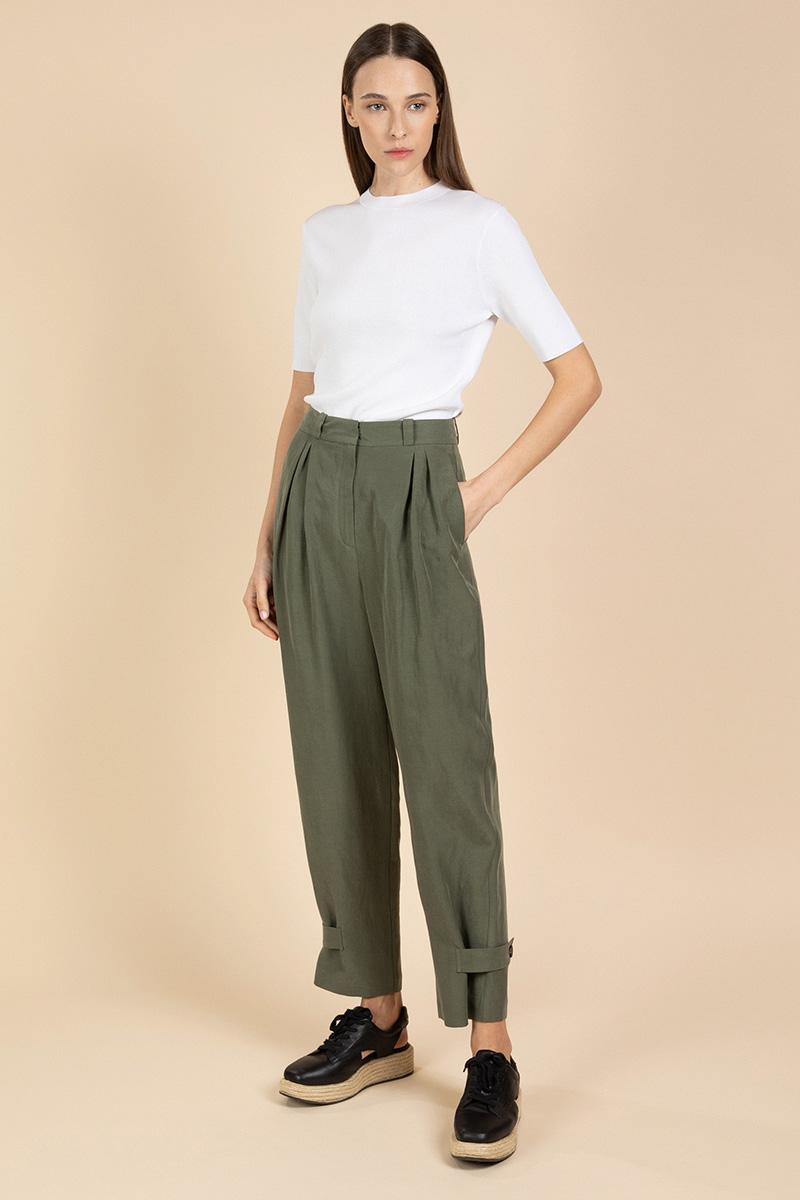 Летние брюки с защипами VASSA&Co фото