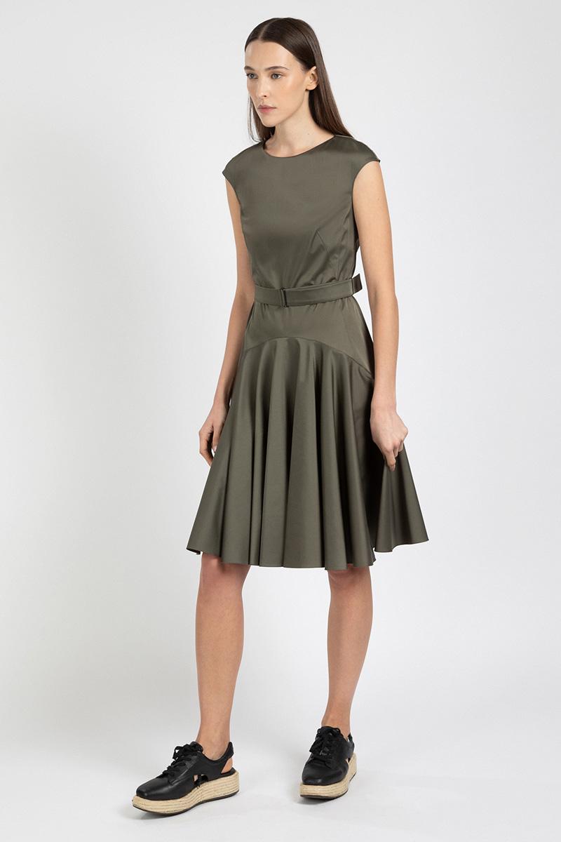 Платье приталенного кроя VASSA&Co, Зеленый, VASSA&Co V209053N-1704C75