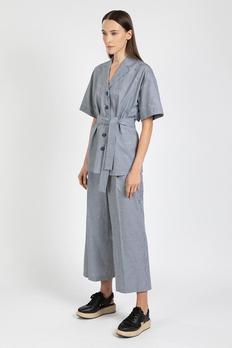 Расклешенные брюки из хлопка VASSA&Co фото