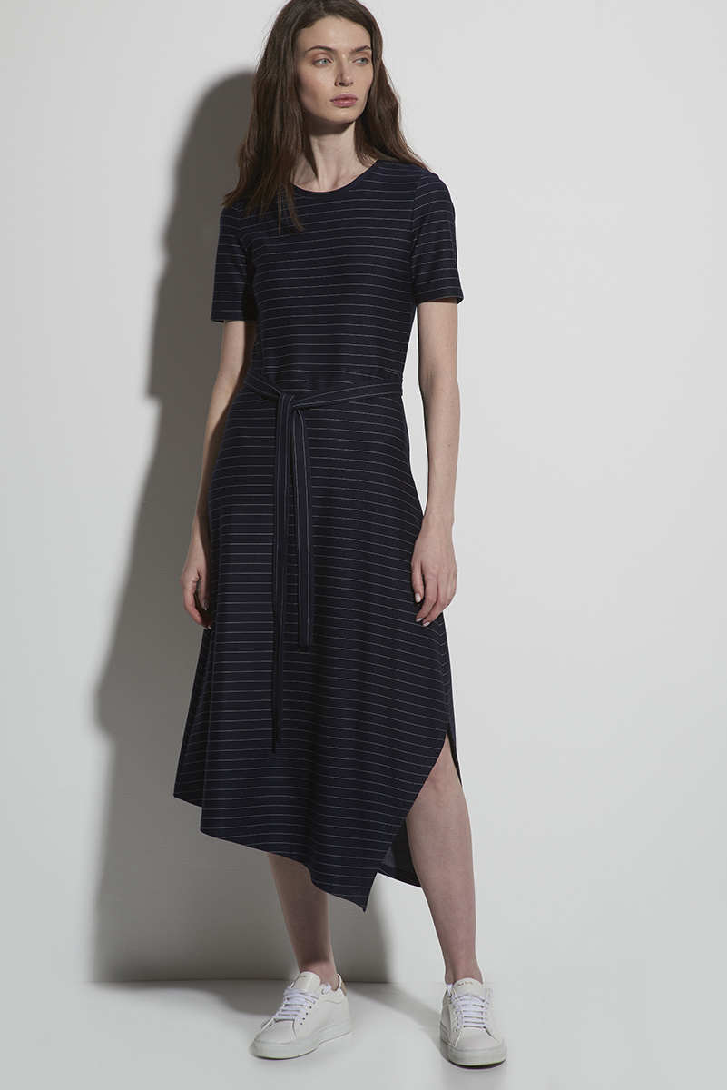 Трикотажное платье в полоску VASSA&Co фото