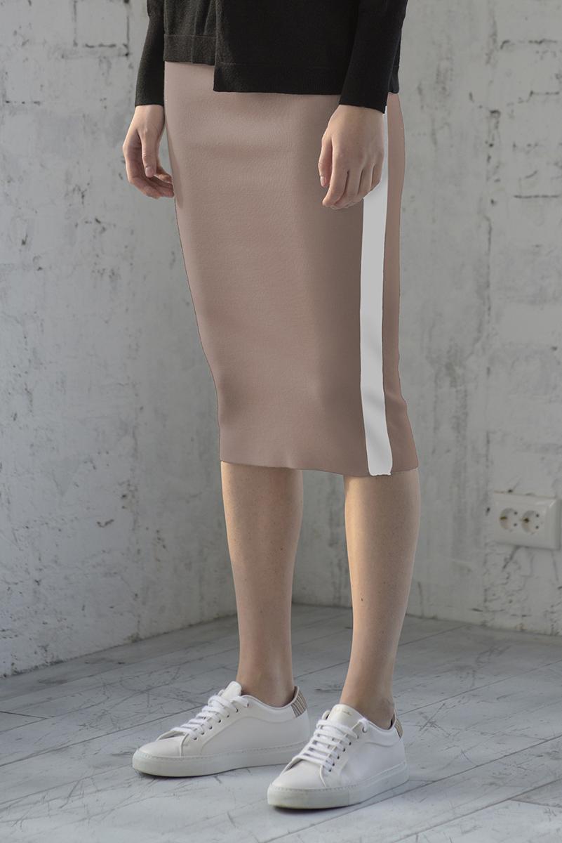 Трикотажная юбка с контрастной отделкой VASSA&Co фото