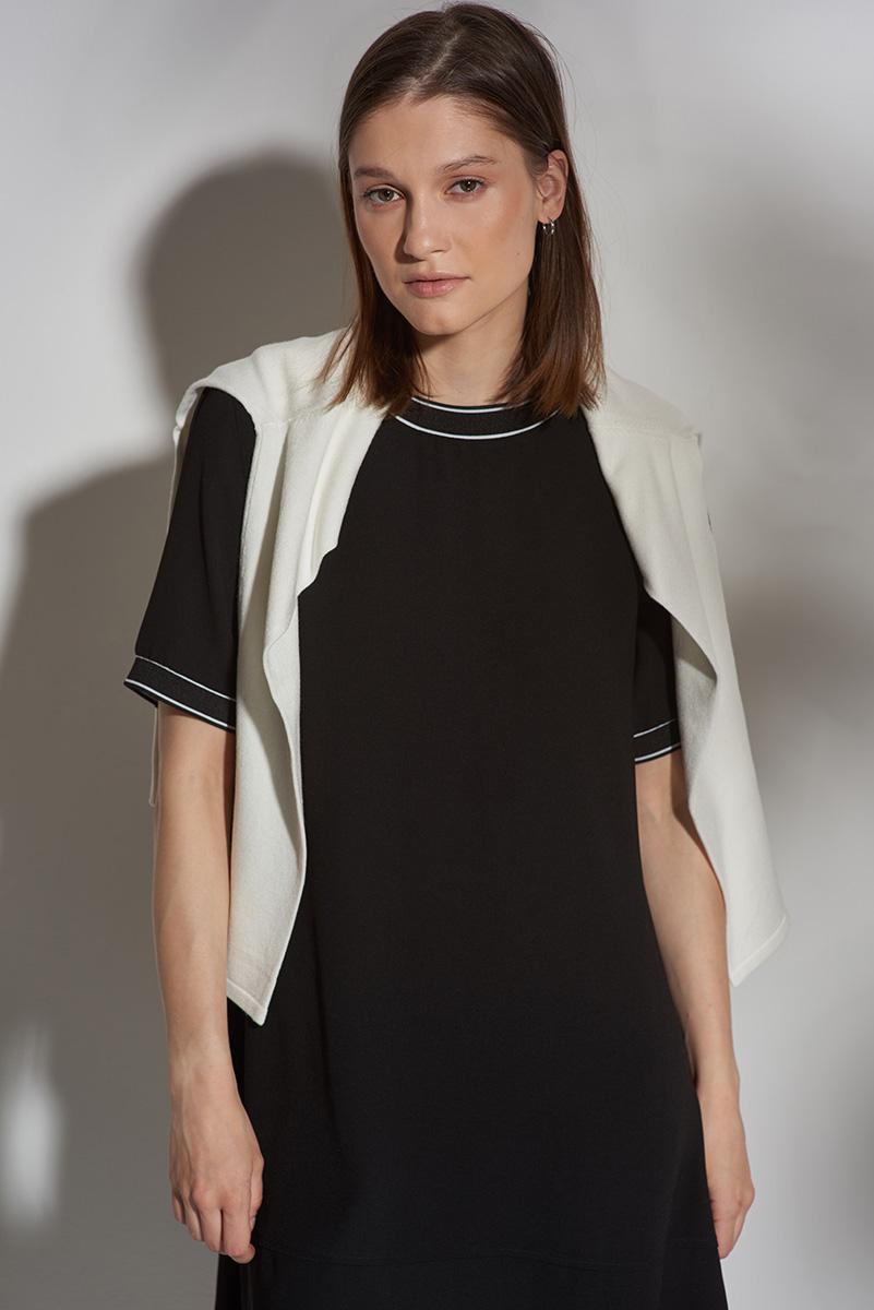 Платье - трапеция с трикотажной отделкой VASSA&Co фото