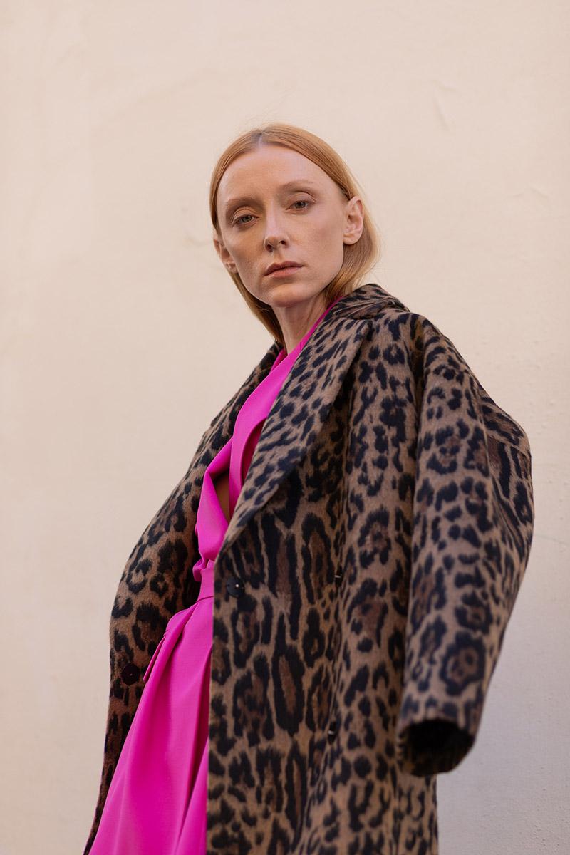 Пальто с анималистичным принтом VASSA&Co фото
