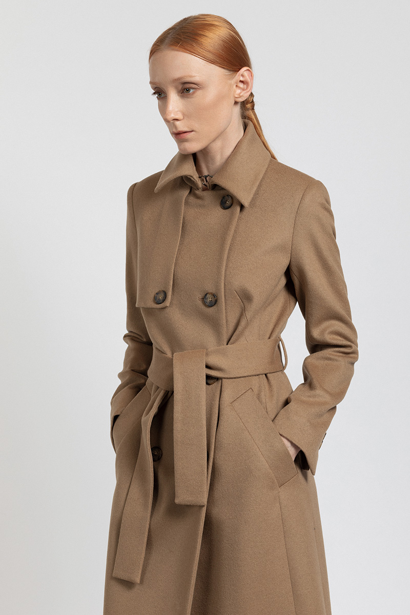 Пальто с элементами trench coat VASSA&Co