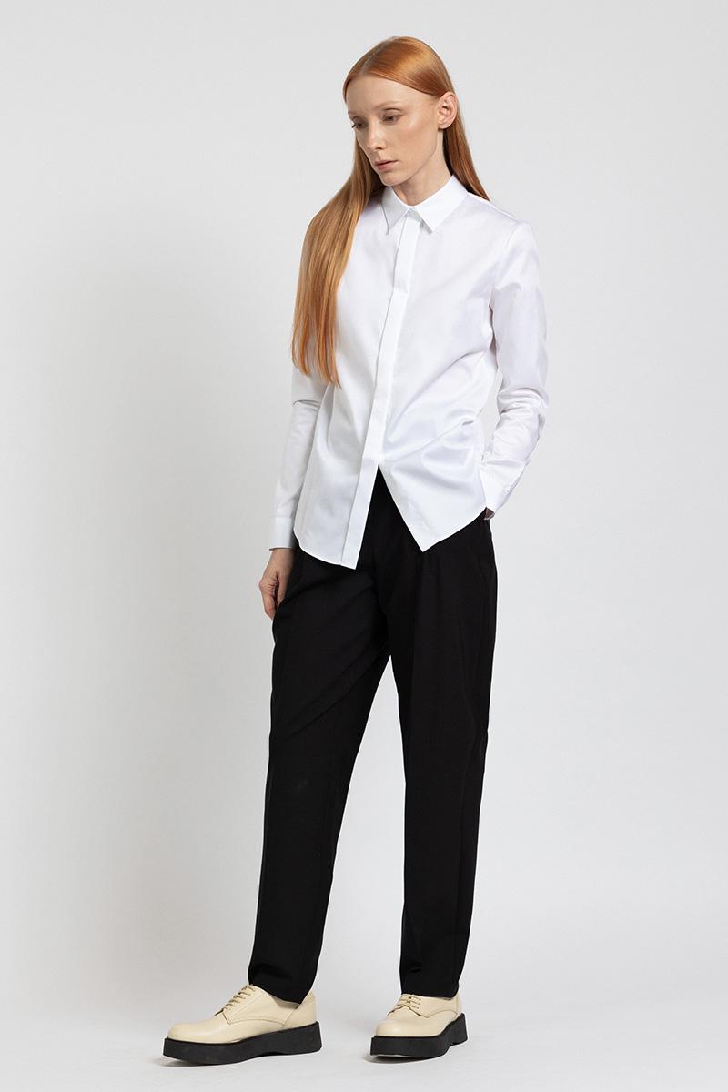Классическая блузка рубашечного кроя VASSA&Co фото