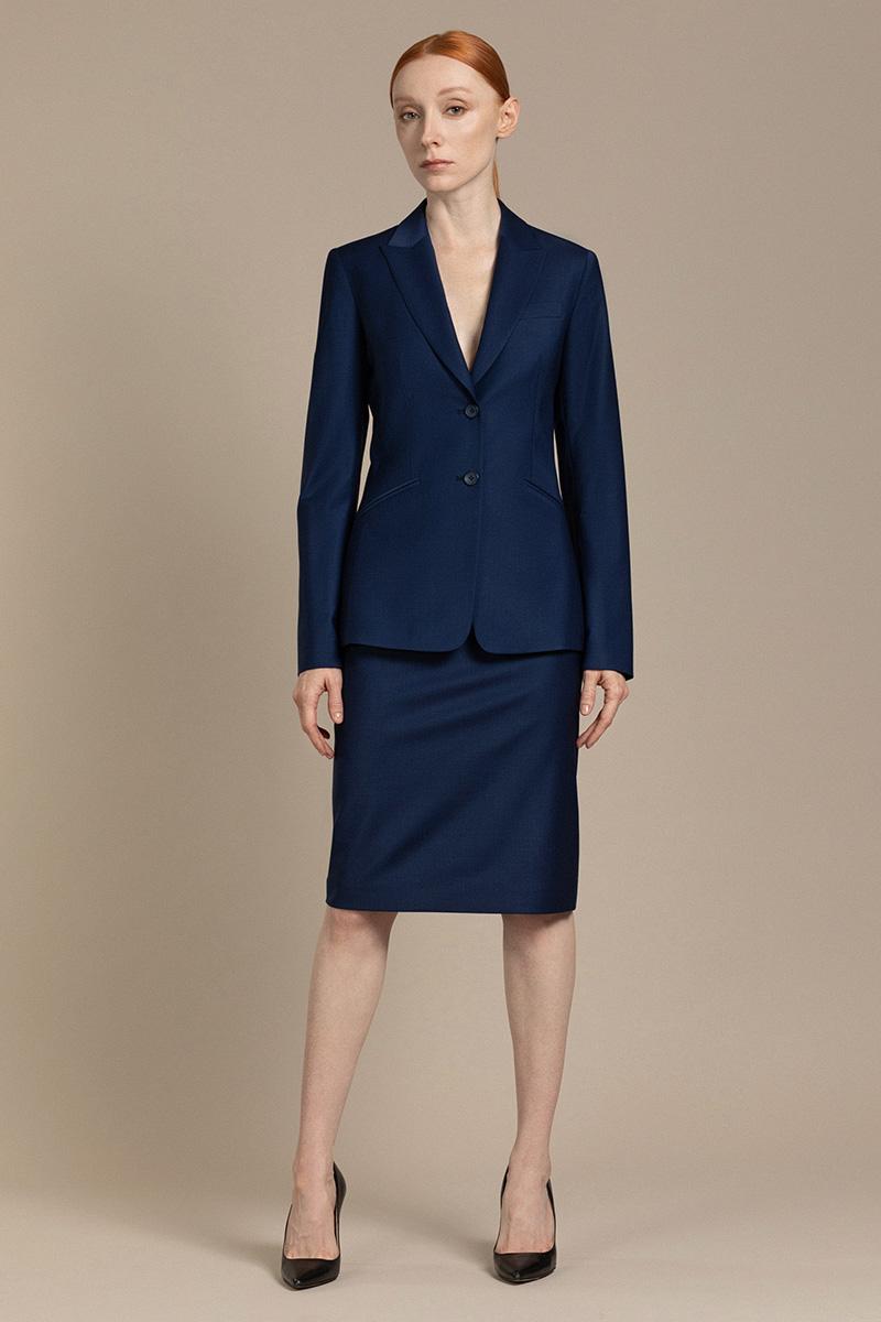 Классическая юбка из шерсти VASSA&Co фото