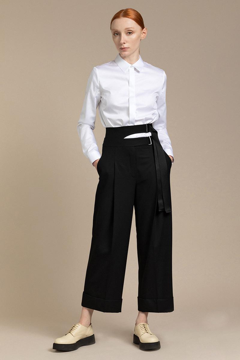 Расширенные брюки со съемным поясом VASSA&Co фото