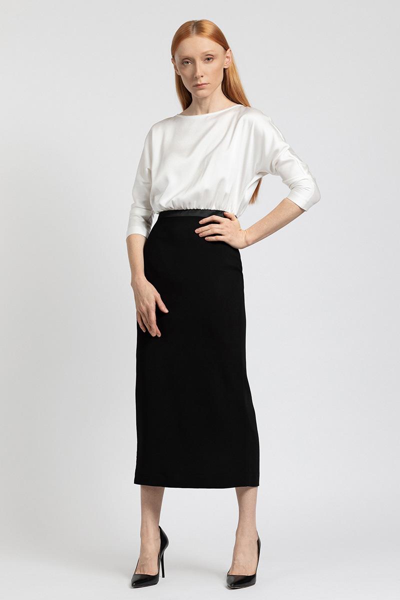Контрастное платье - миди VASSA&Co фото