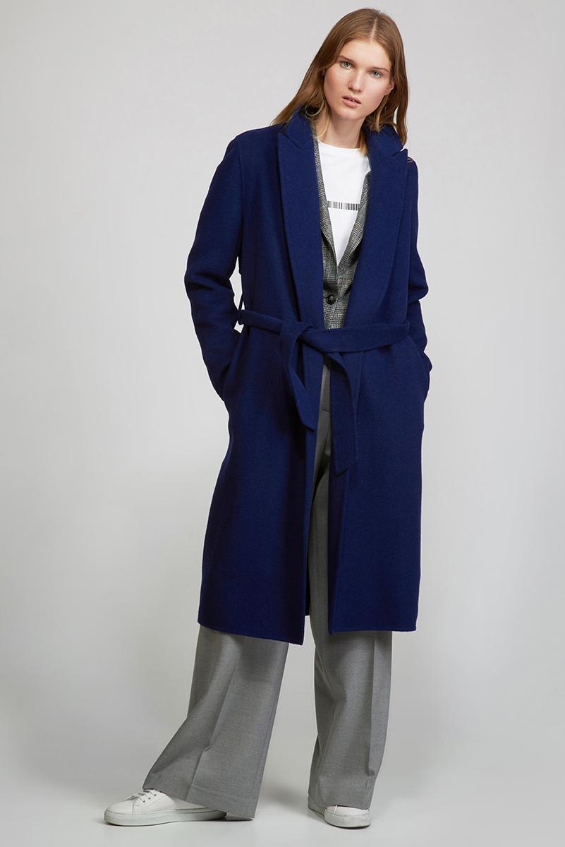 шарф vassa Пальто прямого силуэта с поясом VASSA&Co