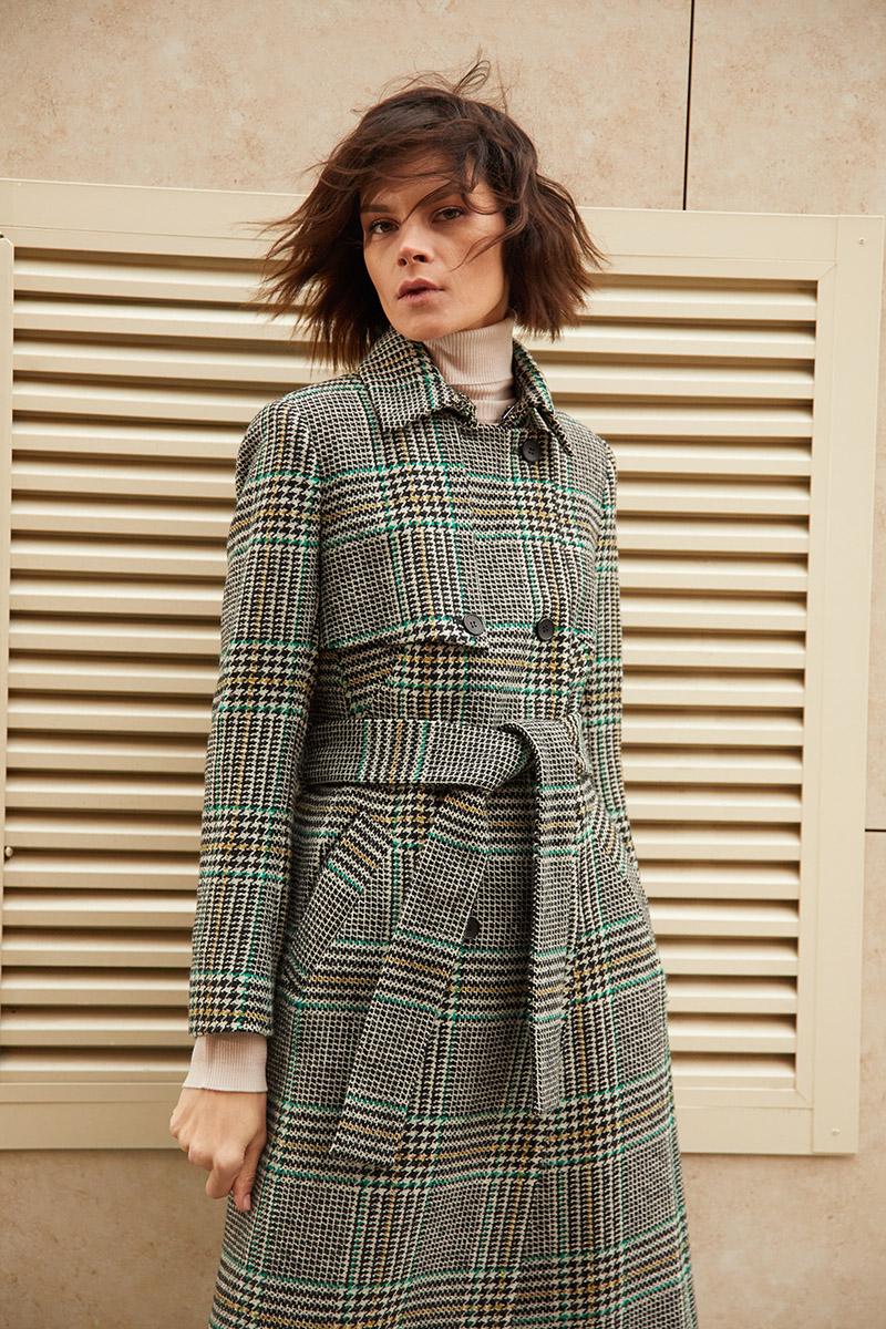 Пальто с элементами trench coat VASSA&Co