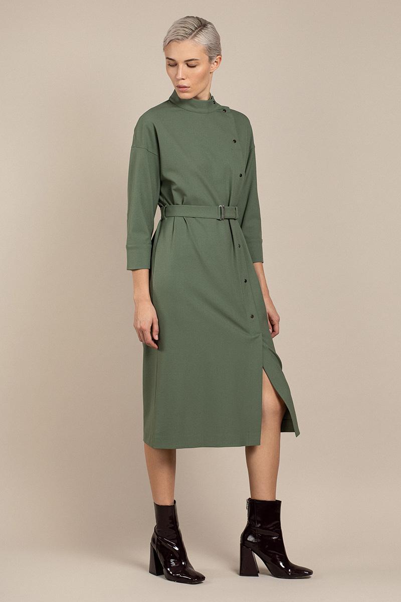 Платье со смещенной застежкой VASSA&Co
