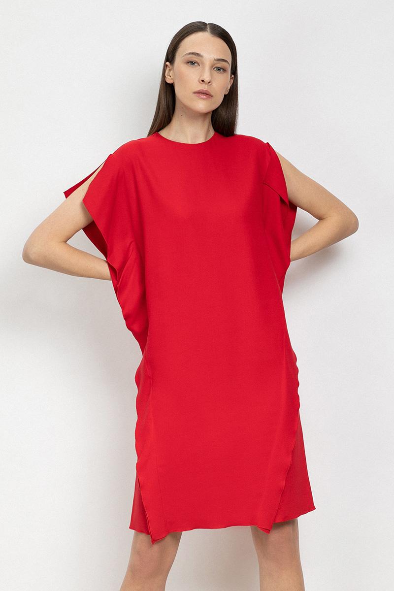 Платье прямого силуэта VASSA&Co платье oodji ultra цвет красный белый 14001071 13 46148 4512s размер xs 42 170